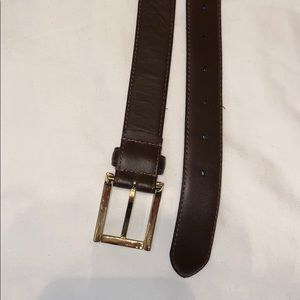 BRAND NEW. Brown Leather Belt  59 Inch